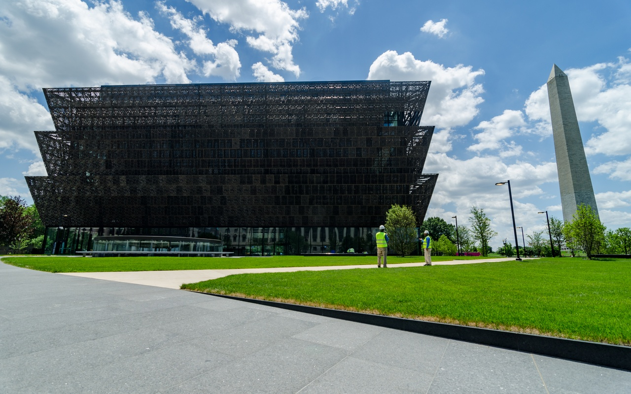 Exterior of the Smithsonian African American museum
