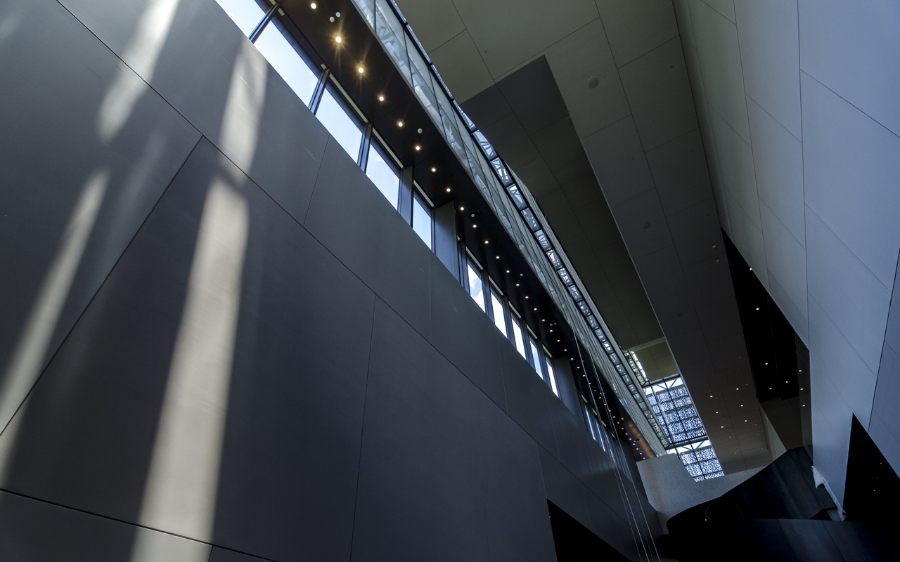 Interior of the Smithsonian African American museum