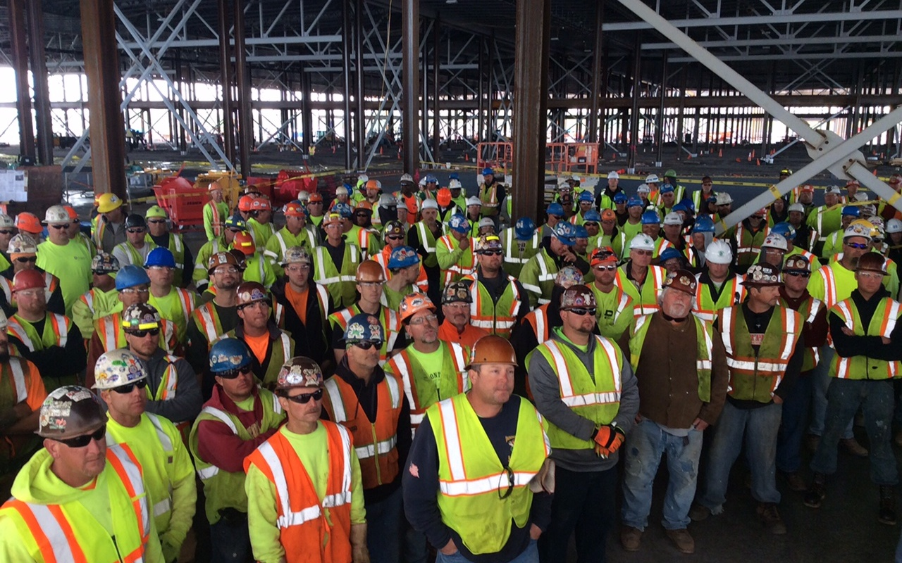 Safety stand-down event at construction site