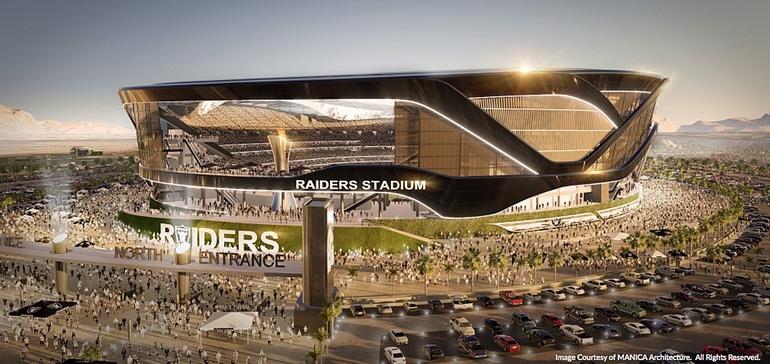 New Raiders Stadium in Vegas