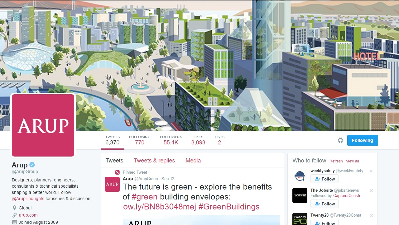 Arup Twitter page