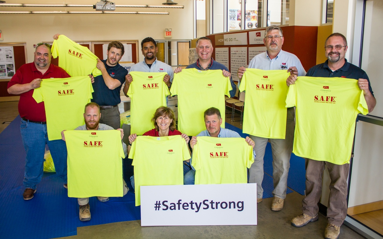 Safety in construction shirts promotion