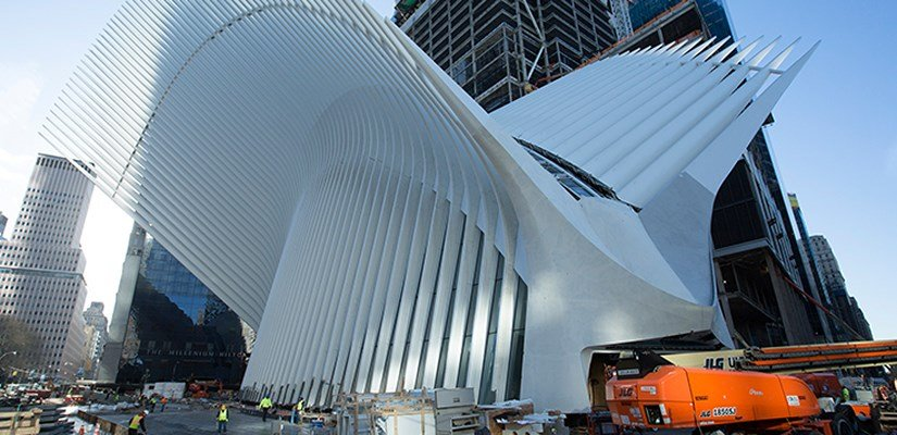 Oculus centerpiece of World Trade Center Transportation Hub