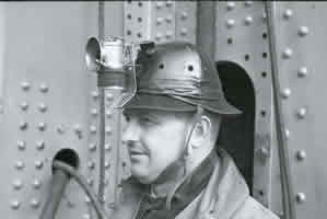 Photo of one of the first-ever hard hats used, during the construction of the Golden Gate Bridge in th 2930s